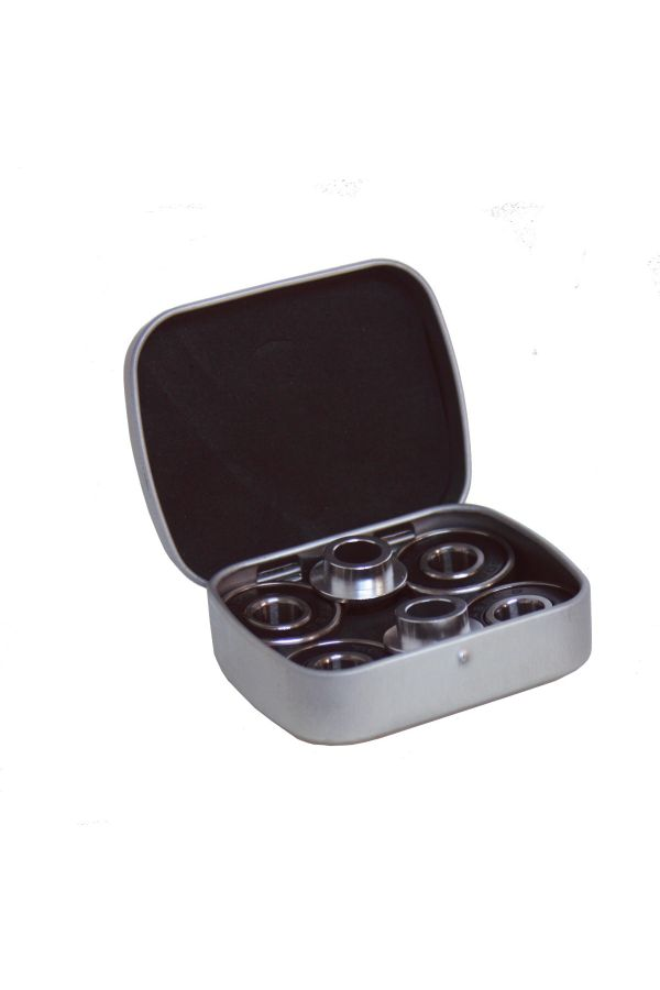 Abec 9 Bearings With CNC Spacers In Tin - 2 Sets