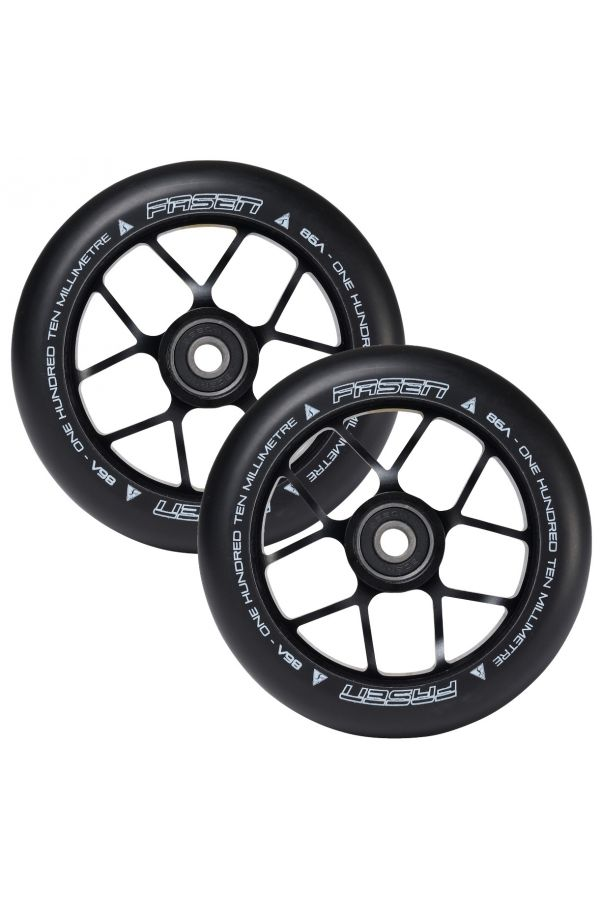 Fasen Scooters Jet Wheel Pair - 110mm - Black