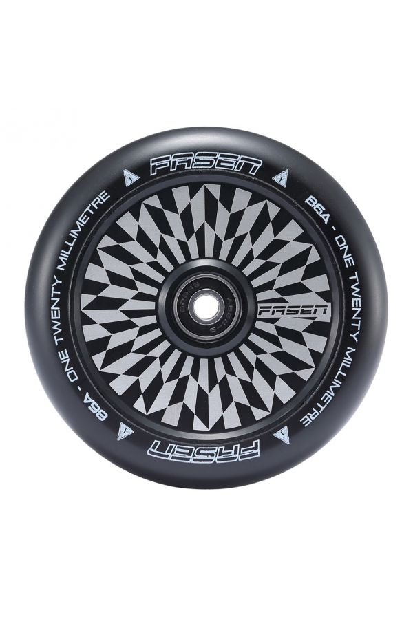 Fasen Scooters Hypno Hollowcore Wheel Pair - 120mm - Off Set Black