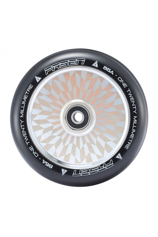 Fasen Scooters Hypno Hollowcore Wheel Pair - 120mm - Off Set Chrome