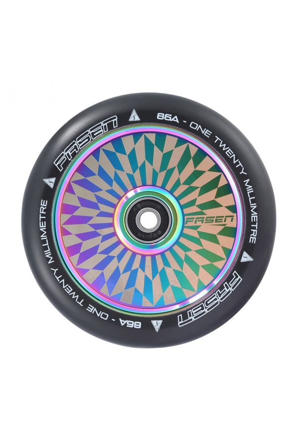 Fasen Scooters Hypno Hollowcore Wheel Pair - 120mm - Off Set Oil Slick