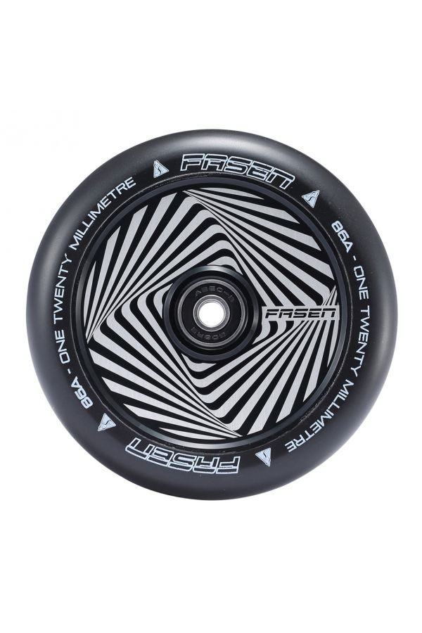 Fasen Scooters Hypno Hollowcore Wheel Pair - 120mm - Square Black