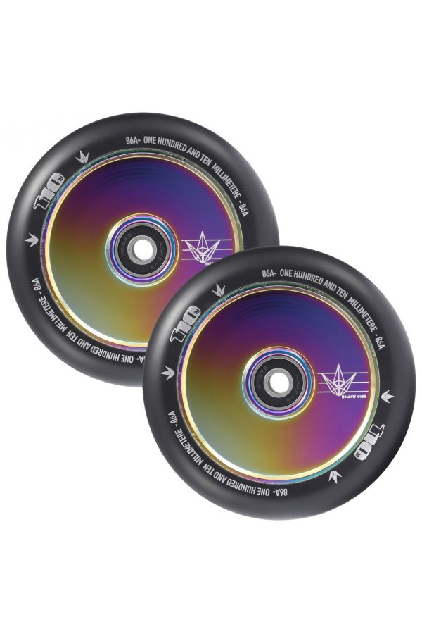 Blunt Envy Hollow Core Scooter Wheel Pair - 110mm x 24mm Oil Slick