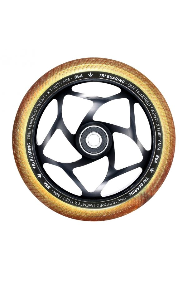 Blunt Envy 120mm/30mm Tri Bearing Wheel - Black and Gold