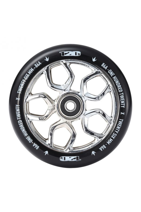 Blunt Envy Lambo Scooter Wheel Pair - 120mm x 26mm - Chrome / Black