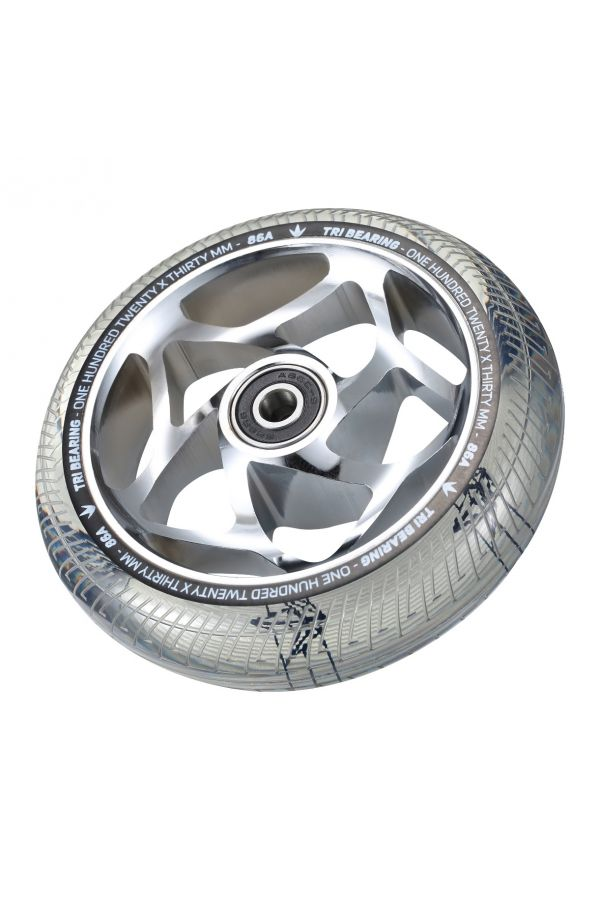 Blunt Envy 120mm/30mm Tri Bearing Wheel - Chrome and Clear