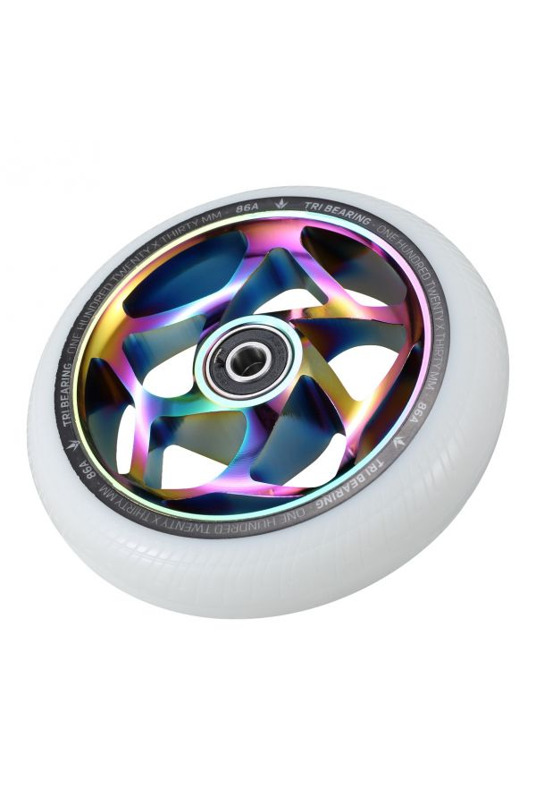 Blunt Envy 120mm/30mm Tri Bearing Wheel - Oil Slick and White