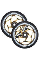 Blunt Envy 120mm/30mm Tri Bearing Wheel Pair - Gold/Black