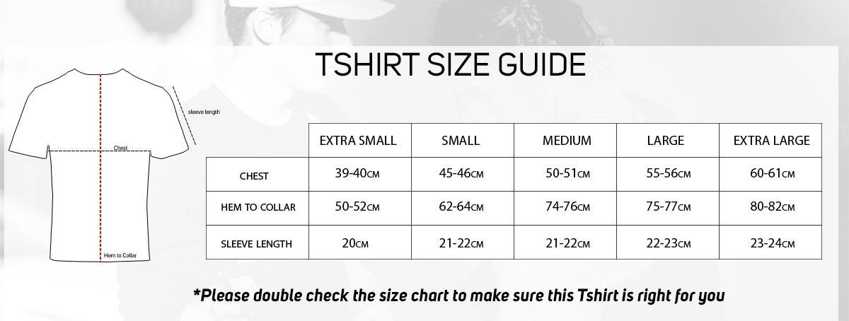 TShirt Size guide